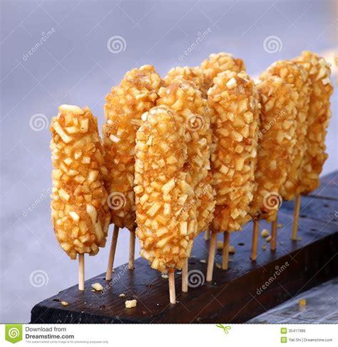 corn dogs  sticks  sale stock photo image