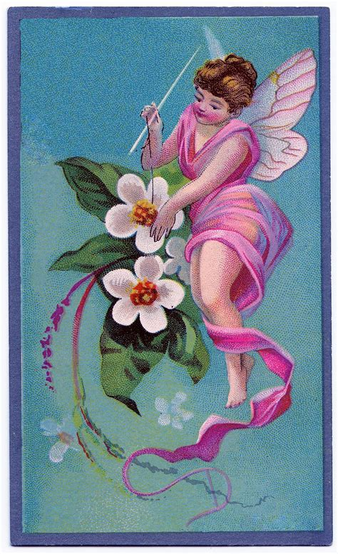 Vintage Graphic Sewing Fairy The Graphics Fairy
