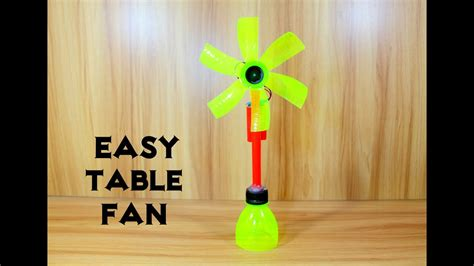 how to make an electric table fan using bottle easy