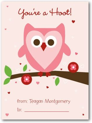 valentines day card kids owl love 39 s day cards for kids in chenille