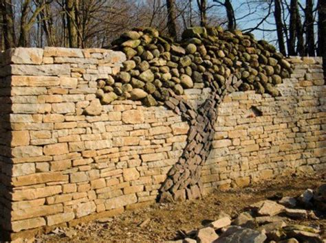 rock wall ideas creative stacked stone wall ideas home design garden architecture blog magazine
