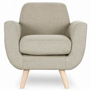 Fauteuil design quotmiramasquot 81cm beige for Fauteuil design beige