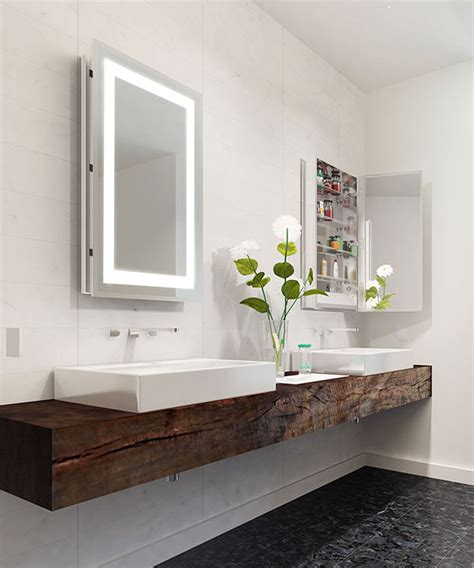 mirrored cabinets electric mirror  global leader