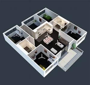 Apartment Room Renting: Apartment Modern Minimalist Decor