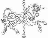 Coloring Steampunk Pages Carousel Wyvern Printable sketch template