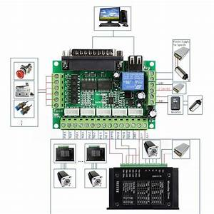 5 Axis Cnc Breakout Board Interface For Stepper Motor Driver St