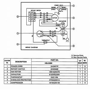 Lg Hblg080 Room Air Conditioner Parts