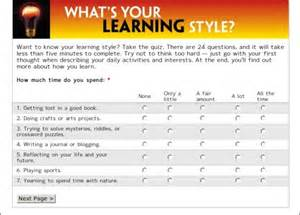 Free Printable Learning Styles Inventory
