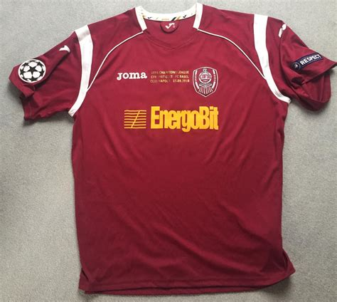 Cfr cluj were deducted 24 points by the romanian football league because of their inability to deal with spiralling debts. CFR 1907 Cluj Home football shirt 2010
