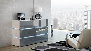 Kommode Grau Hochglanz : kaufexpert kommode shine sideboard 120 cm grau hochglanz wei led beleuchtung modern design tv ~ Markanthonyermac.com Haus und Dekorationen
