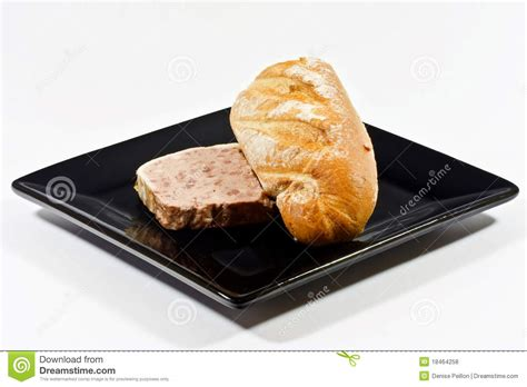 pate a baguette pate and bread royalty free stock photos image 18464258