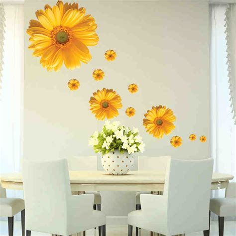 home decor wall posters 5 design small flower wall stickers bedroom room