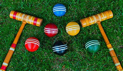 Backyard Croquet by With The Whole Family With A Backyard Croquet Set