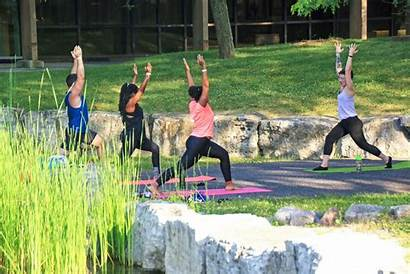 Yoga Campus Outside Outdoor Morning Mornings Offered