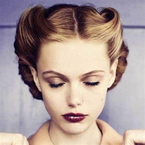 retro updos for medium length hair hair