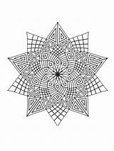 Coloring Stars Zentangle Adults Adult Printable Mycoloring Teens sketch template