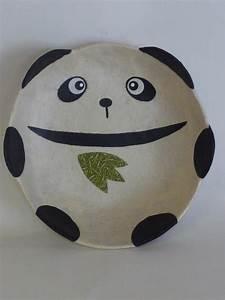Japanese paper mache plate - panda Choose Shop