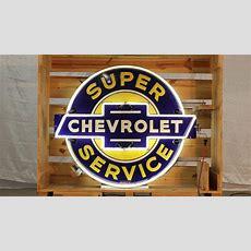 Chevrolet Super Service 48x42x18  F60  The Walker Sign