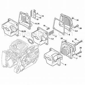 Stihl Ms 460 Chainsaw  Ms460 Magnum  Parts Diagram  Muffler
