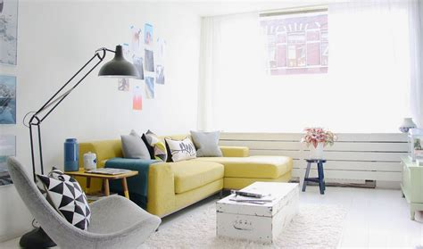 Modern Curtains For Small Living Room by How To Design With And Around A Yellow Living Room Sofa