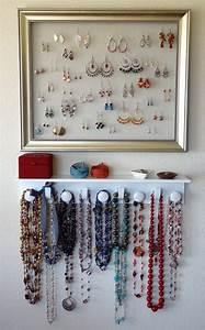 Fabriquer Un Porte Bijoux : le porte bijoux mural une d co pratique et belle ~ Melissatoandfro.com Idées de Décoration