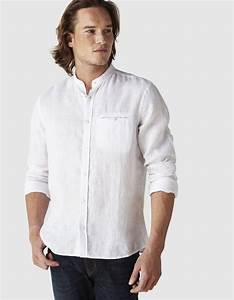 Chemise Sans Col Homme : chemise homme manche courte sans col chemise homme manche ~ Louise-bijoux.com Idées de Décoration