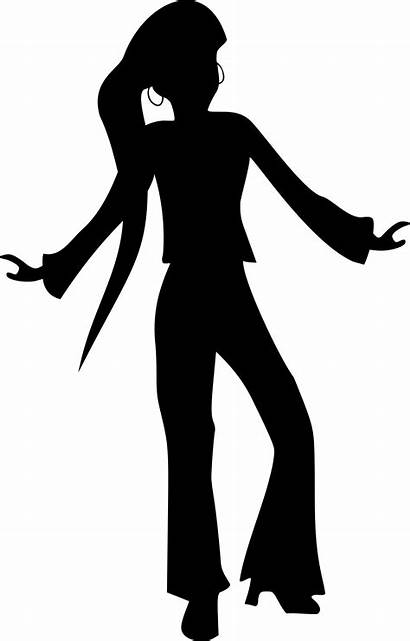 Disco Dancer Clipart Silhouettes Svg Merlin2525 She