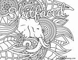 Coloring Swear Word Adult Pages Books Printable Sweary Sheets Vulgar Patterns Shitfaced Swearstressaway Away sketch template
