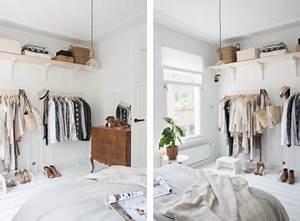 Dressing Ouvert Pas Cher : un dressing pur et pas cher dans une chambre blanche ~ Melissatoandfro.com Idées de Décoration