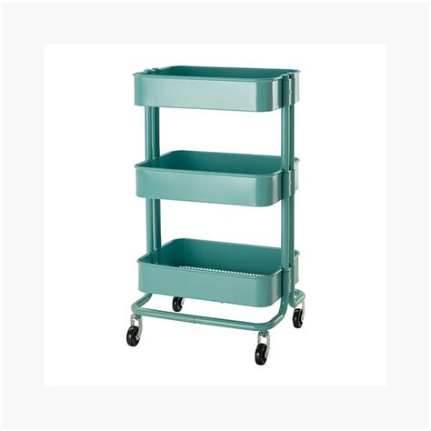 raskog home kitchen bedroom storage utility cart turquoise decormoderna