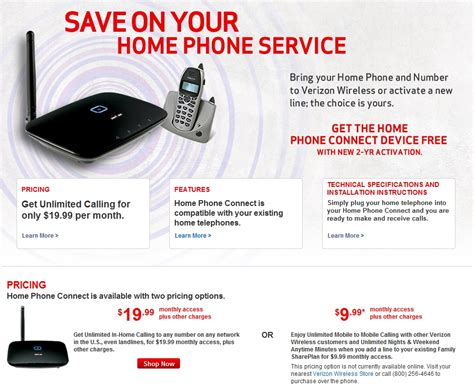 Kühlschrank Home Connect by Verizon Wireless Expands Its Home Phone Connect Service
