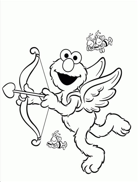 elmo  friends coloring pages coloring home