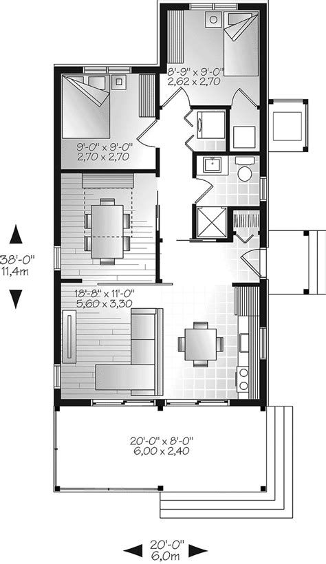3 bedroom small house plans tranquil haven craftsman cabin plan 032d 0811 house 17992 | 032D 0811 floor1 8