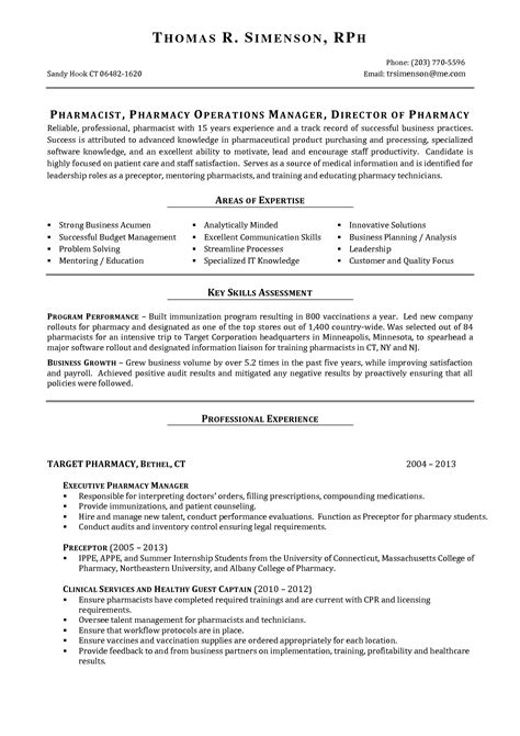pharmacy manager resume