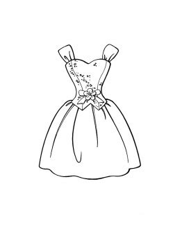 outline  wedding dress  kids  colour
