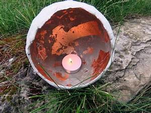 Windlicht Beton Luftballon : diy beton windlichter und beton schalen stilweg ~ Watch28wear.com Haus und Dekorationen