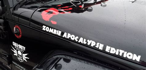 call of duty jeep decal product 2 zombie apocalypse edition call of duty black