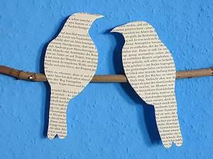 Deko Vögel Zum Aufhängen : diy deko wandbild vogel silhouette kreativraum24 ~ Michelbontemps.com Haus und Dekorationen