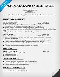 insurance claims resume sample resume samples across all With insurance resumes search
