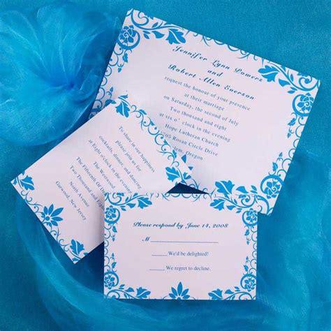 blue and white wedding invitation ideas weddings