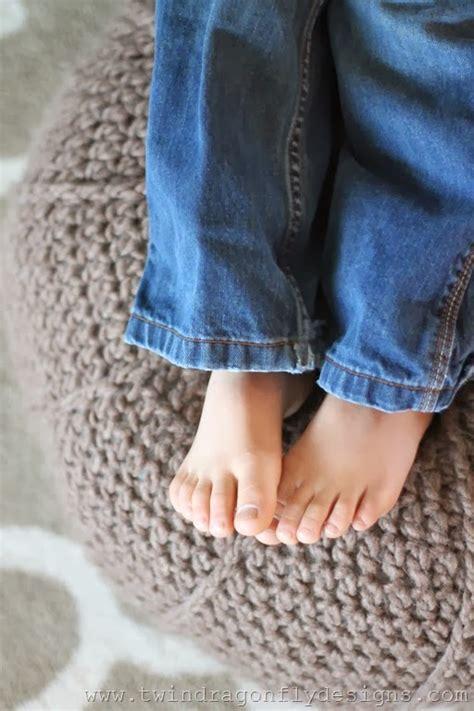crochet floor pouf  pattern