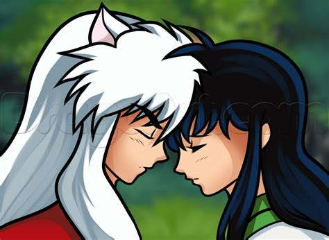 How To Draw Inuyasha And Kagome, Step By Step, Anime