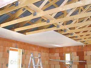 Comment Faire Un Faux Plafond : fermettes et faux plafond photo de toits et toit ~ Melissatoandfro.com Idées de Décoration