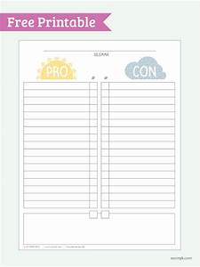 pro vs con free printable pdf print it fonts With pro con list template