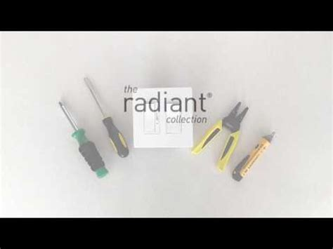 install radiant light switches  outlets