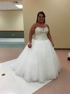 David39s bridal bling princess wedding dress pre owned for Princes wedding dress