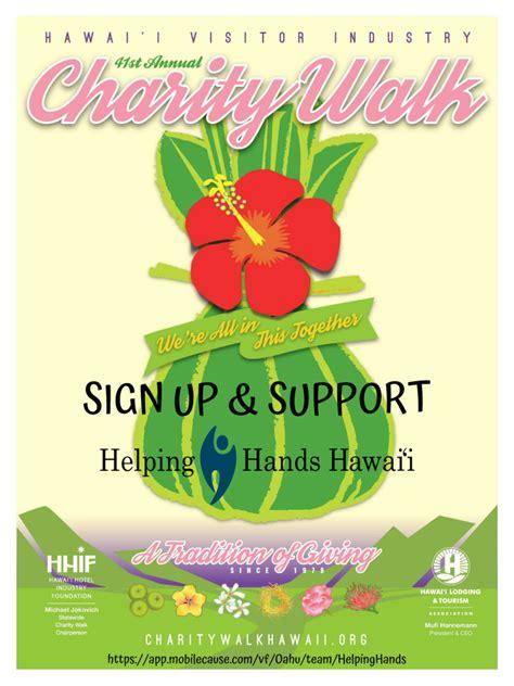 charity walk  walk  helping hands hawaii