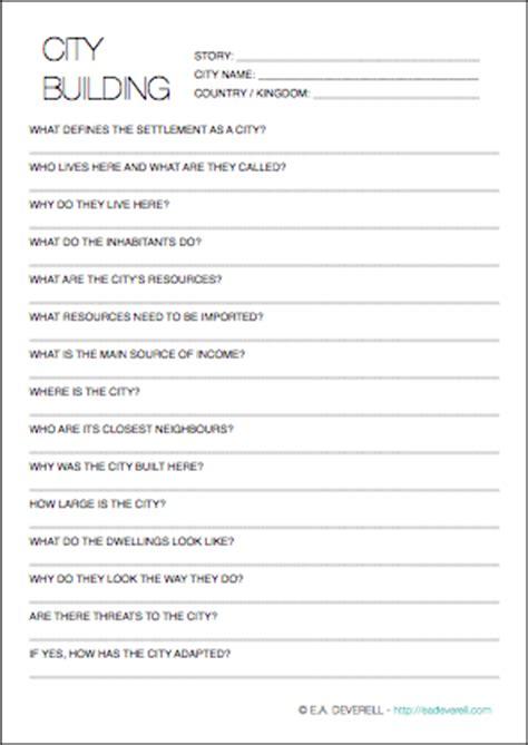 world building template worldbuilding worksheet cities