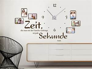 Uhr Mit Fotos : wandtattoo uhr familienzeit mit spruch und fotos von ~ Eleganceandgraceweddings.com Haus und Dekorationen