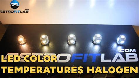 led color temperatures halogen